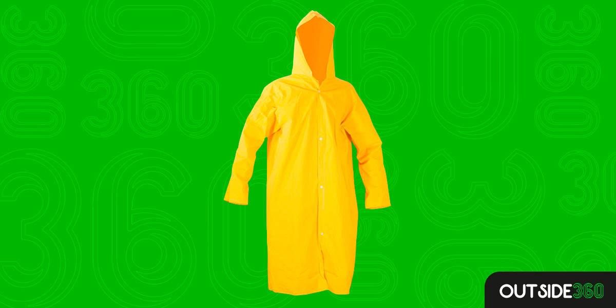 Capa de Chuva Amarela Boa e Barata