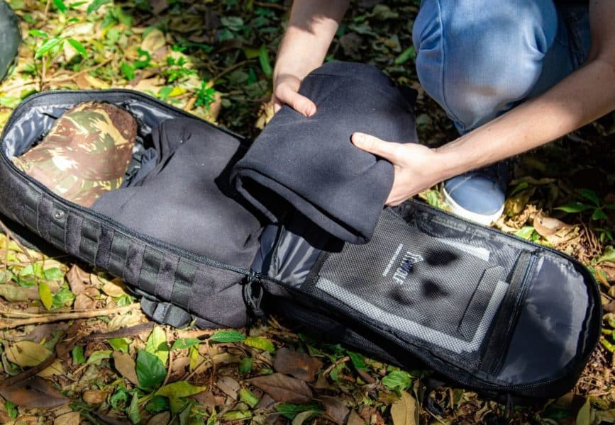 Arrumando a mochila wolf m4