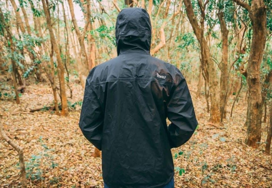Jaqueta impermeável com corta vento
